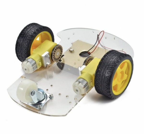 CAR KIT 2WD ACRYLIC CHASSIS