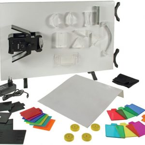 Optical kit set with white board Ray box