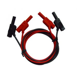 Male-male safety electric cords with rear connection