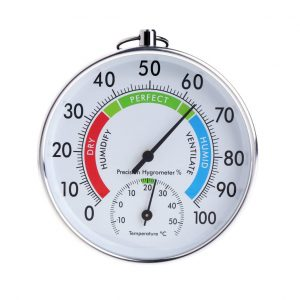 Analog thermometer-hygrometer(Padory Thermometer Hygrometer Temperature Humidity Analog Meter Indoor Outdoor HT910)