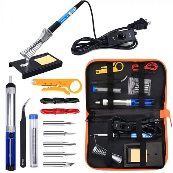 Soldering kit with adjustable temperature